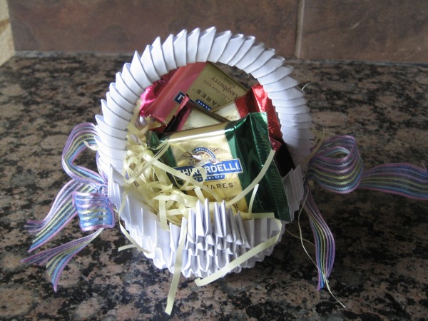 3 D Origami Gift Basket By Jchau On Deviantart