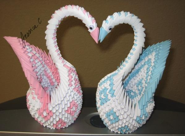 3D Origami Love swans by jchau on DeviantArt - photo#47