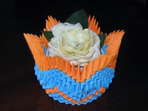 3d Origami Star Basket By Jchau On Deviantart