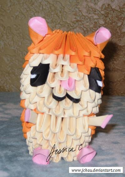 3D Origami Hamtaro by jchau