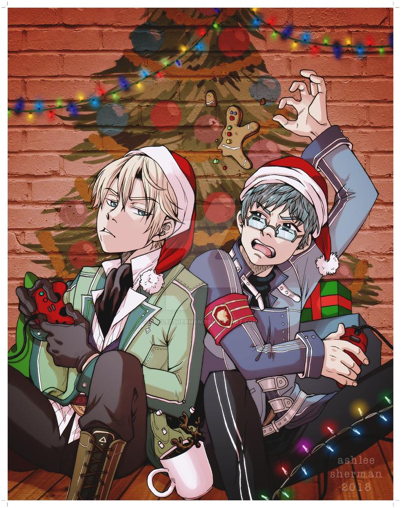 Commission: Happy Holidays 2018 by AshleeSherman