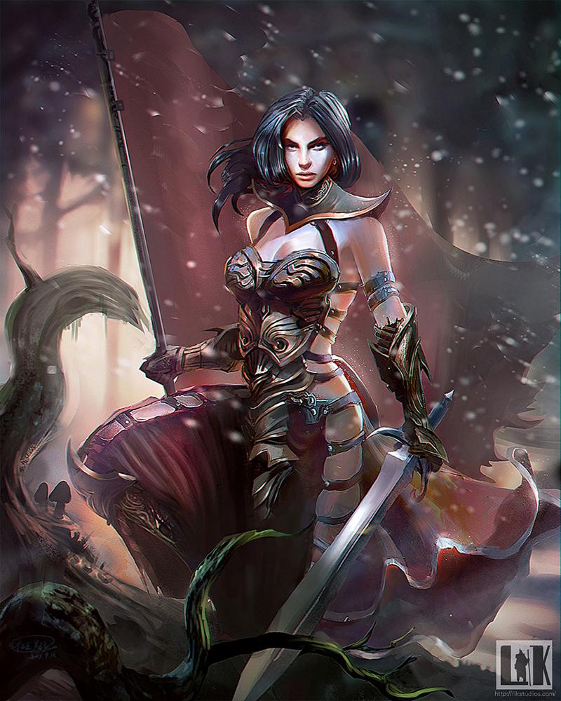 Woman warrior oscar lv 1 by watt277 on deviantart - Fantasy female warrior artwork ...