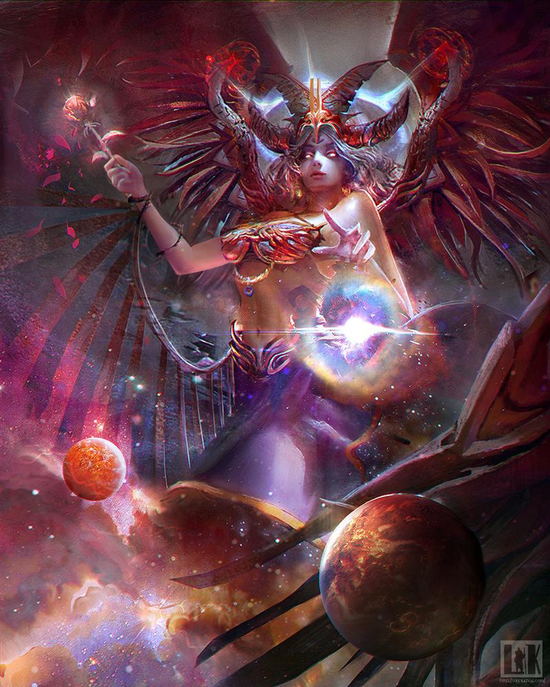 And gods goddesses art digital