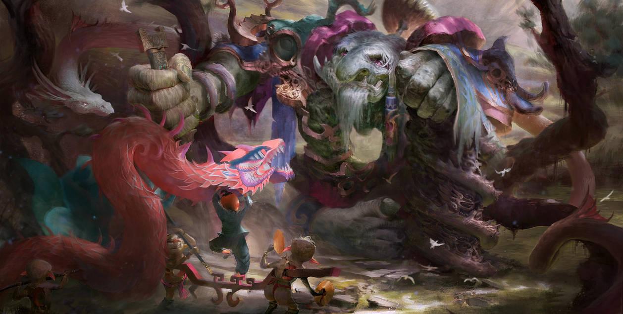 Chest Cave Man-Oriental mythology by watt277
