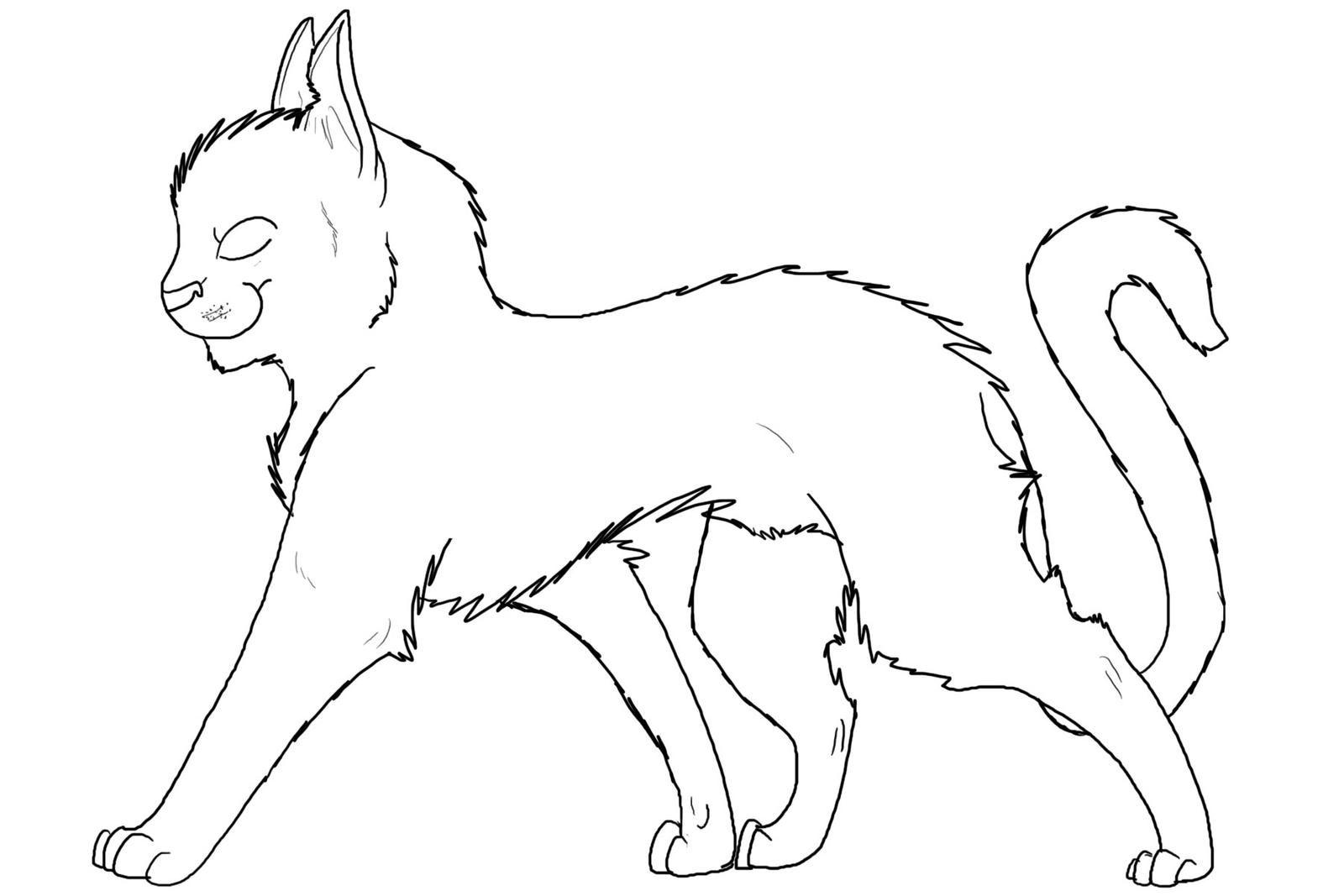Another Cat Outline by Alibi-cat on DeviantArt