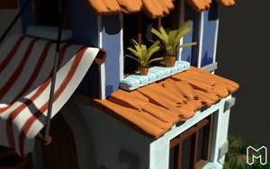 House 3D model 4K 2 by Madzialke