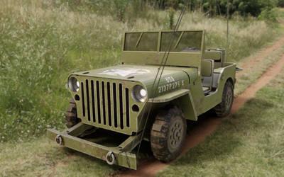 Jeep Willys MB 3d model terrain version
