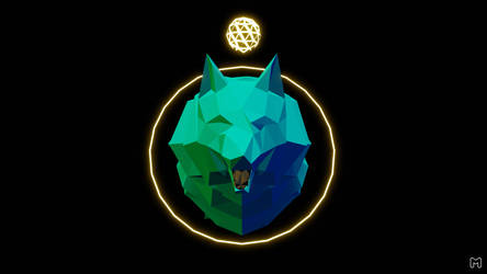 Wolf abstract 3d model