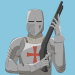 knight with a shotgun (first commission alternate)