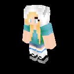Finn Fan Girl - Minecraft Skin
