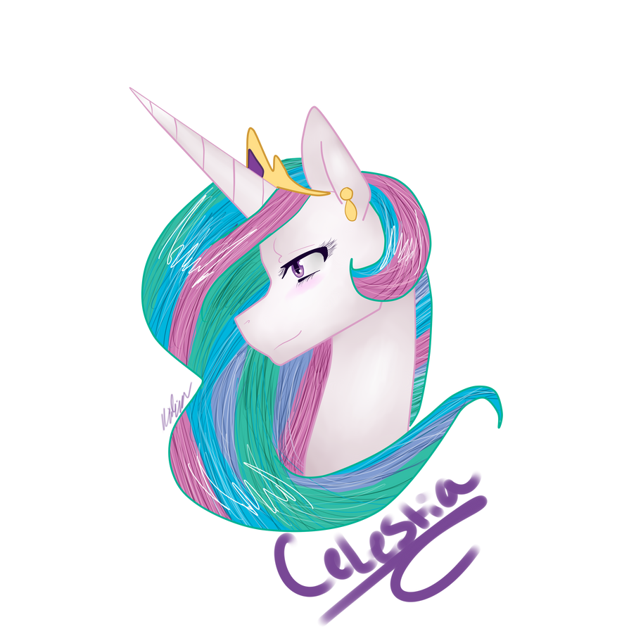 Princess Celestia by Paint-Splatters