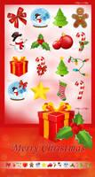 Set of 16 Christmas Icons by AlexLasek