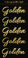 Add-ons - 8 Luxury Golden Text Styles PSD