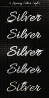 Add-ons - 8 Luxury Silver Text Styles PSD