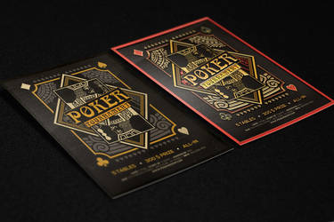 Poker Magazine Ad, Poster or Flyer Flat and 3D by AlexLasek