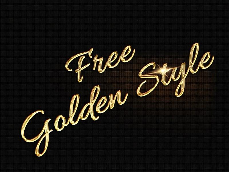 FREEBIE - Golden Text Style by AlexLasek by AlexLasek