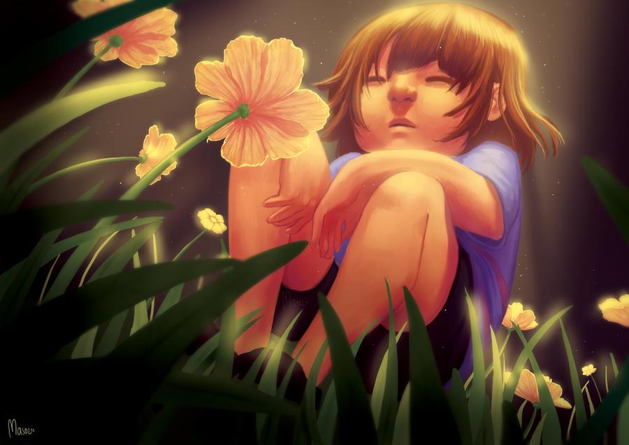 Yellow Flowers by Masozii