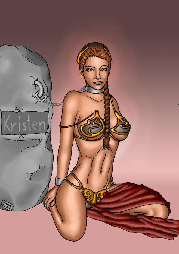 Slave princess Leia by theDeberzer