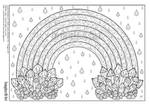 Crystal Rainbow colouring page