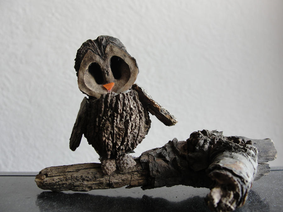 Walnut Owl by Sabea