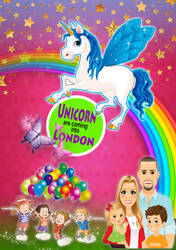 Unicorn event Flyer by annamehmood