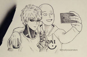 Saitama and Genos by matyosandon