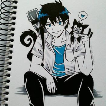 Rin and Kuro  by matyosandon