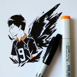 Inktober day 4| Tobio Kageyama  by matyosandon