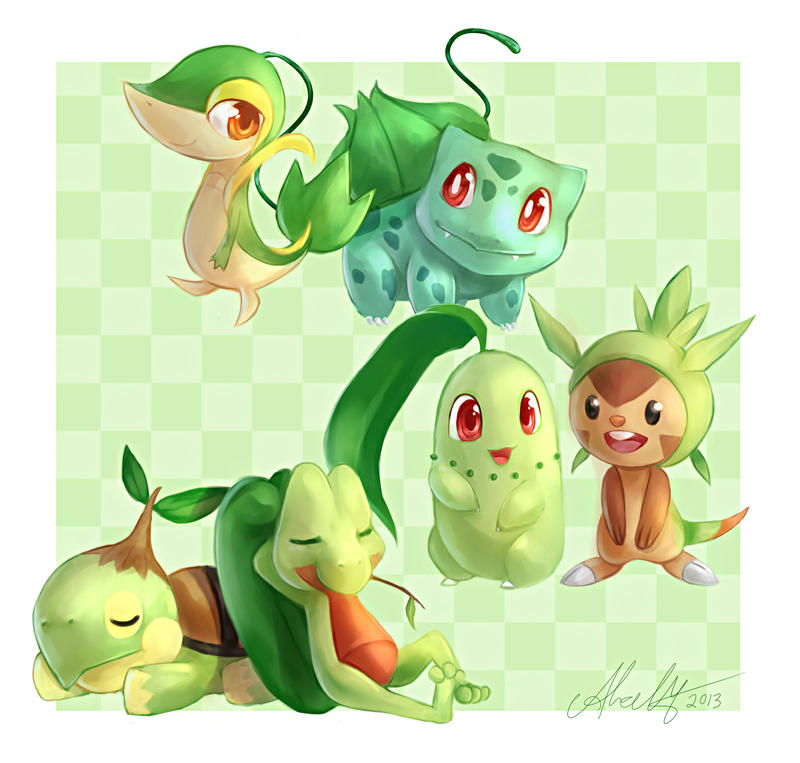 Day #2 - Favourite Starter Type by Chyal on DeviantArt