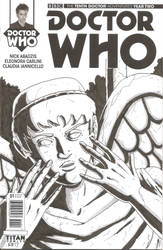 Doctor Who Sketch cover - Weeping Angel