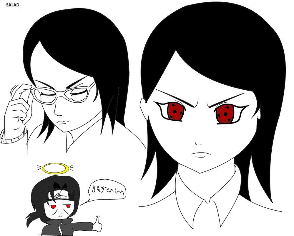 Sasuke  Sakura daughter Salad by darkspeed54