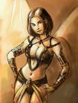 Sepia Girl 01
