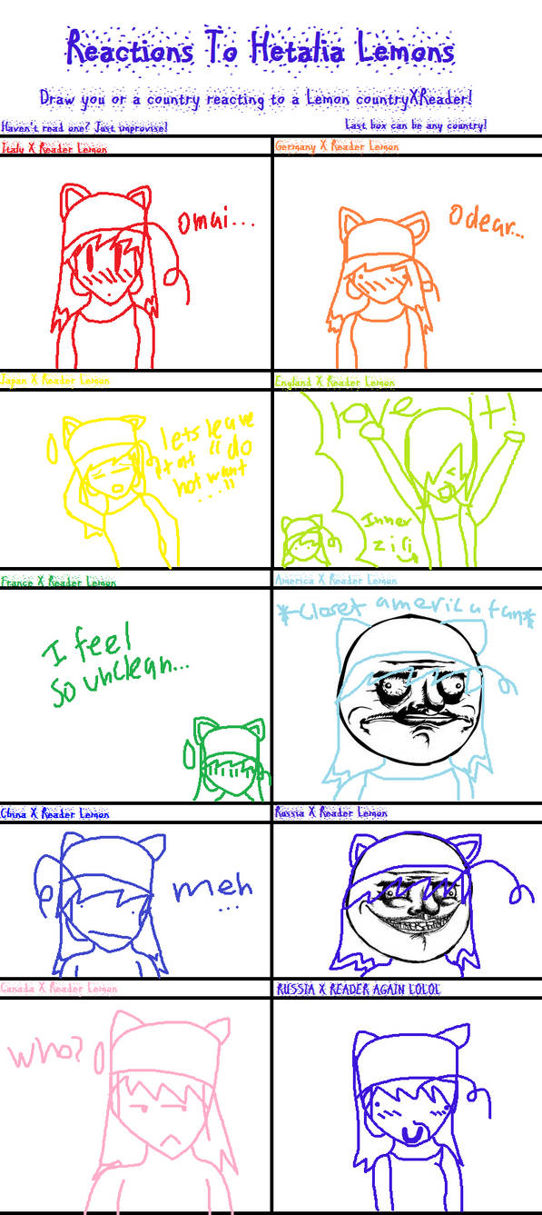 hetalia Lemon reactions meme by XEPICTACOSx on DeviantArt