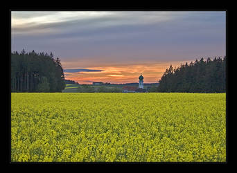 sunset and a RWS field by Hartmut-Lerch
