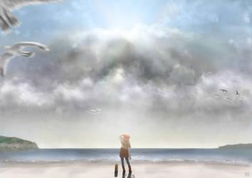 At Beach by Hyakuya