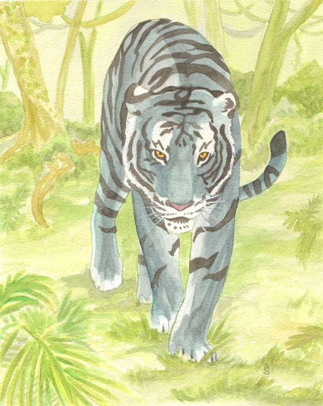 Blue Maltese Tiger by Aldistar