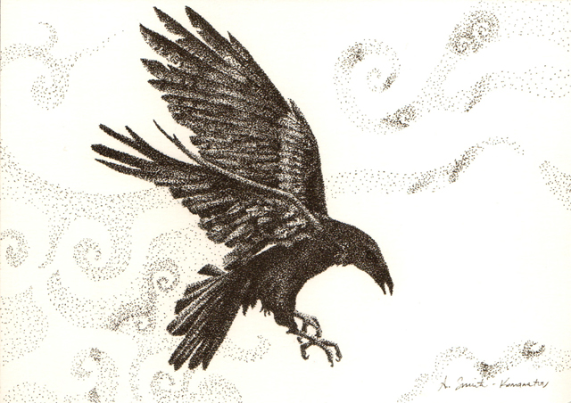 Crow Stipple by Aldistar