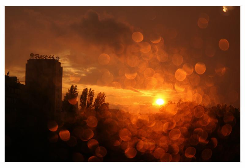 Rain in New Belgrade by rafinerija
