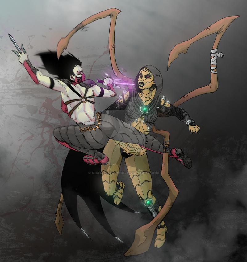 Dvorah vs Mileena by Grace-Zed on DeviantArt