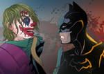 Batman vs The Joker by NikoAlecsovich