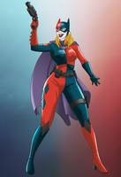 Bat girl Harley Quinn by NikoAlecsovich