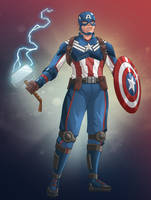 Captain America by NikoAlecsovich