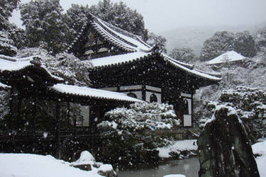 Snow on Kyoto
