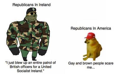 Republicans, Ireland vs America.