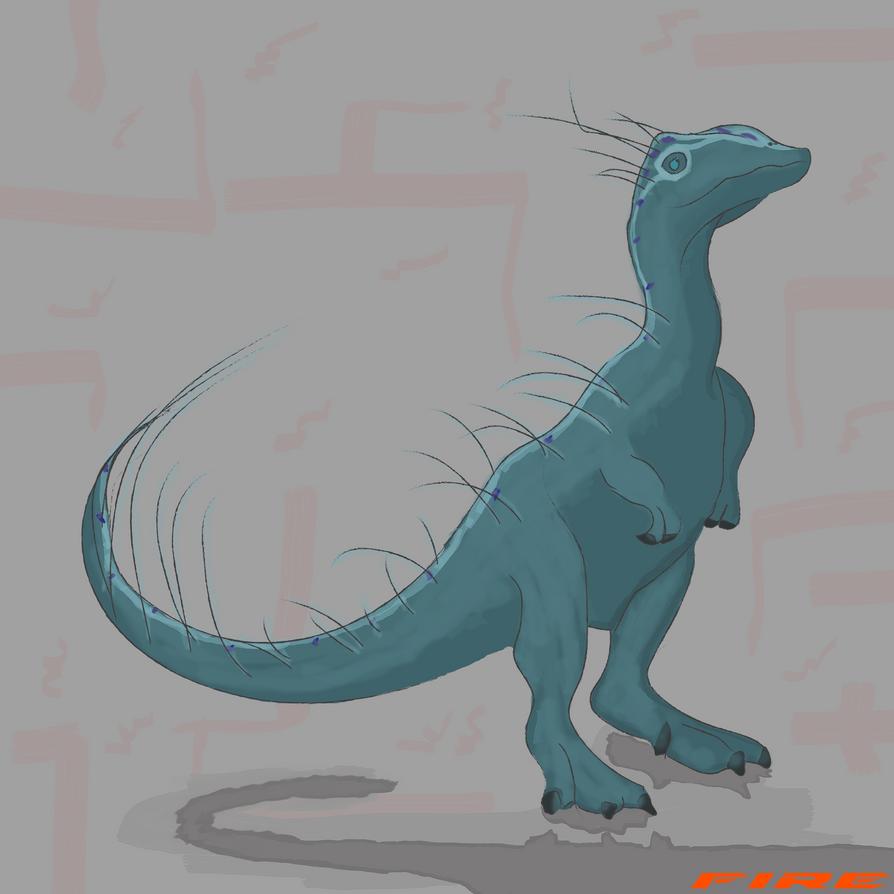 Blue lizard by FiresGraphics