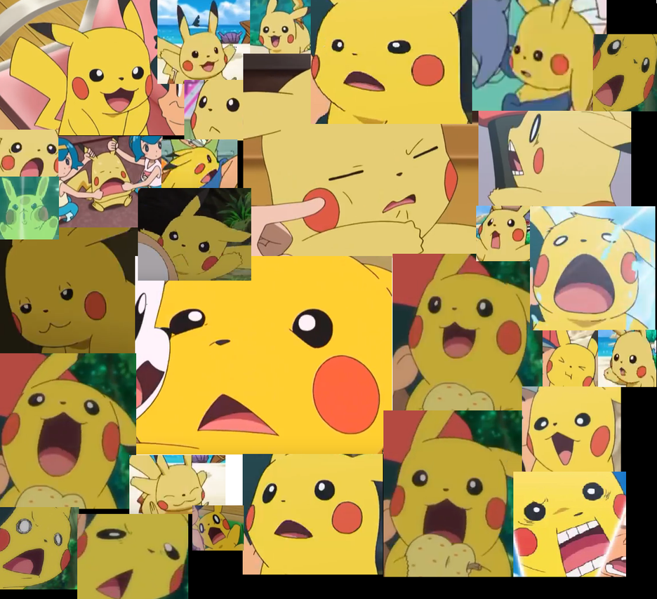 Some of the best faces of pikachu by lilpinkbunnyrabbit