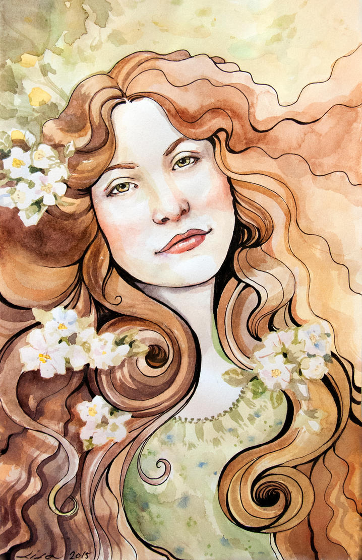Apple Blossoms by rawenna