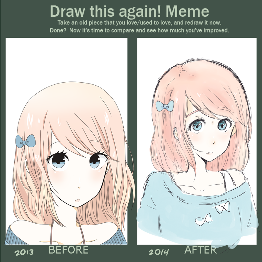 Draw this again meme by pinky98231 on deviantart for Draw this again meme template