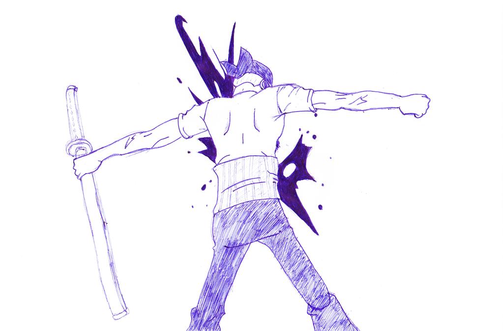 Zoro - One Piece by EvoDario