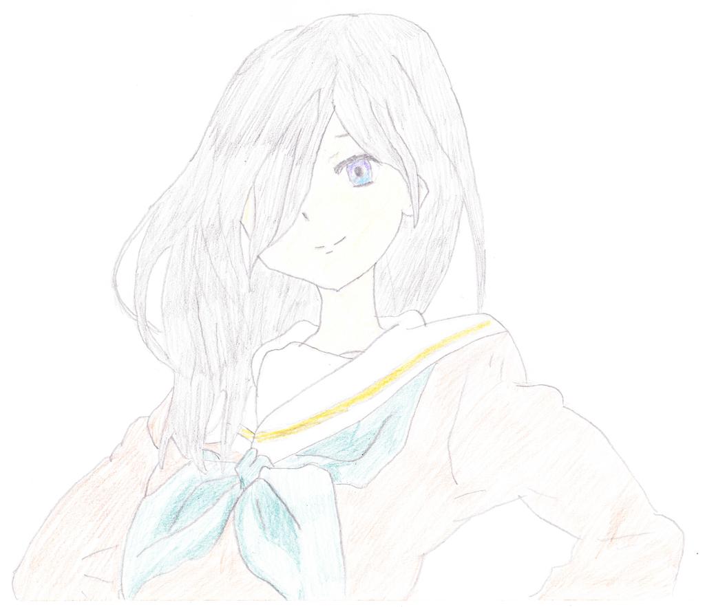 Anime Girl I copied by EvoDario